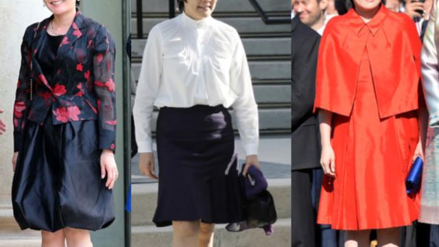 昭恵夫人の即位礼正殿の儀 スカート姿が炎上!ドレス袖の形が